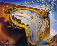 Um detalhe de uma interpretação de A Persistência da Memória, um dos quadros mais famosos de Salvador Dalí. Não sei ao certo a origem.