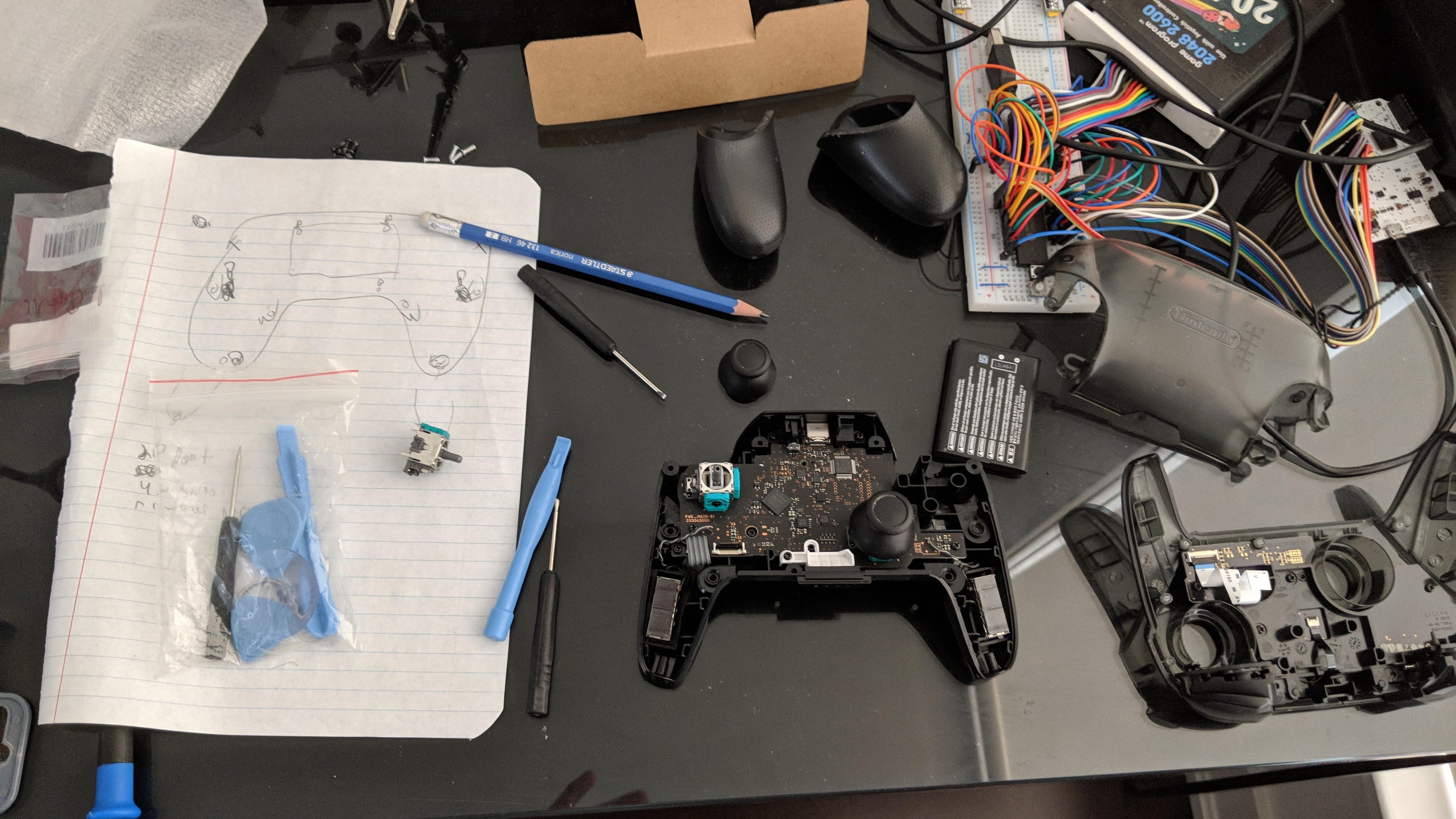 Replacing a Nintendo Switch Pro Controller Analog Stick