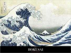 'A Grande Onda de Kanagawa, por Katsushita Hokusai. Ilustração do início do século XIX.