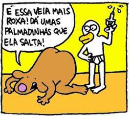 Trecho de tira do Arnaldo Branco
