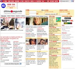 Página do iG em 2001 (clique para ampliar)